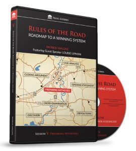 Rules of the Road: Roadmap Session V