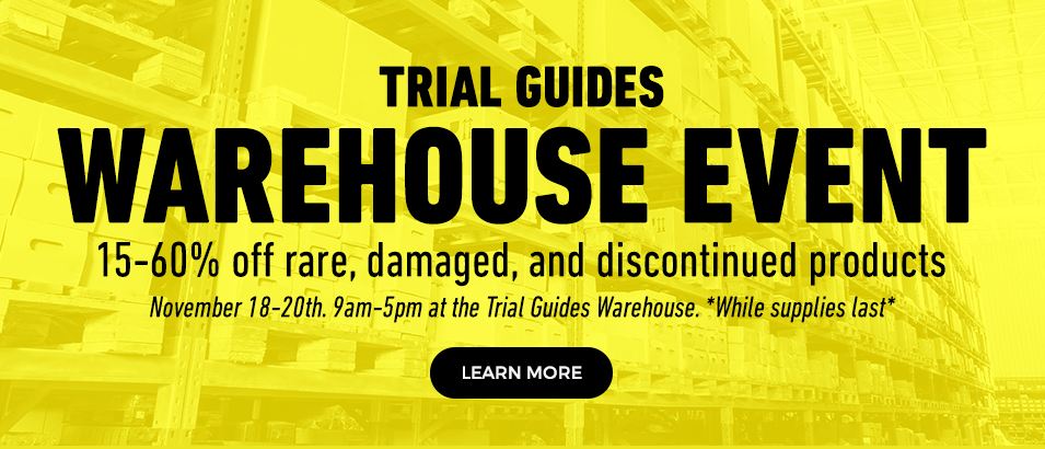 Trial Guides Warehouse Sale Event Slider