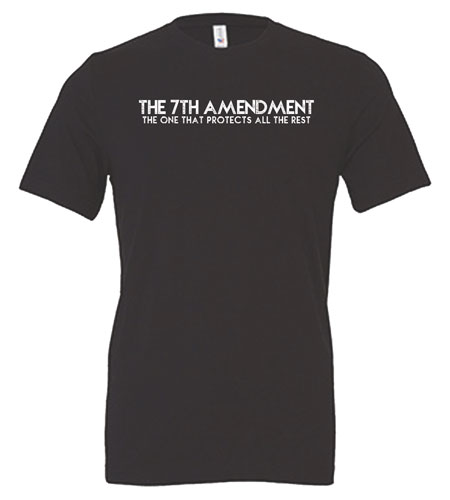 7th Amendment T-Shirt Gray Front