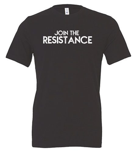Join the Resistance Gray T-Shirt Front